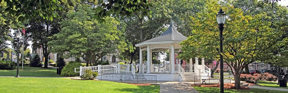 View of Norwood gazebo