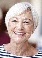 Senior woman with natural-looking dentures